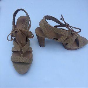 Tahari Suede Lace up Sandal